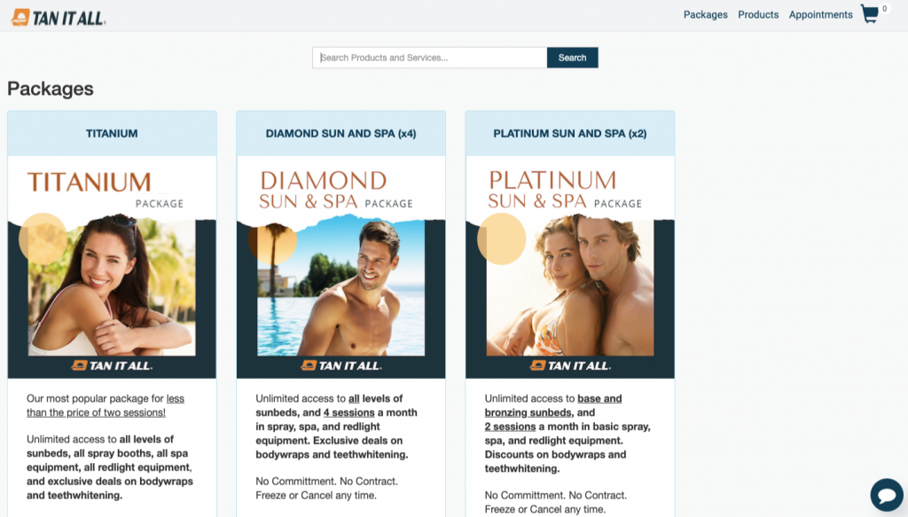Tan-Link Tanning Salon Software Online Store