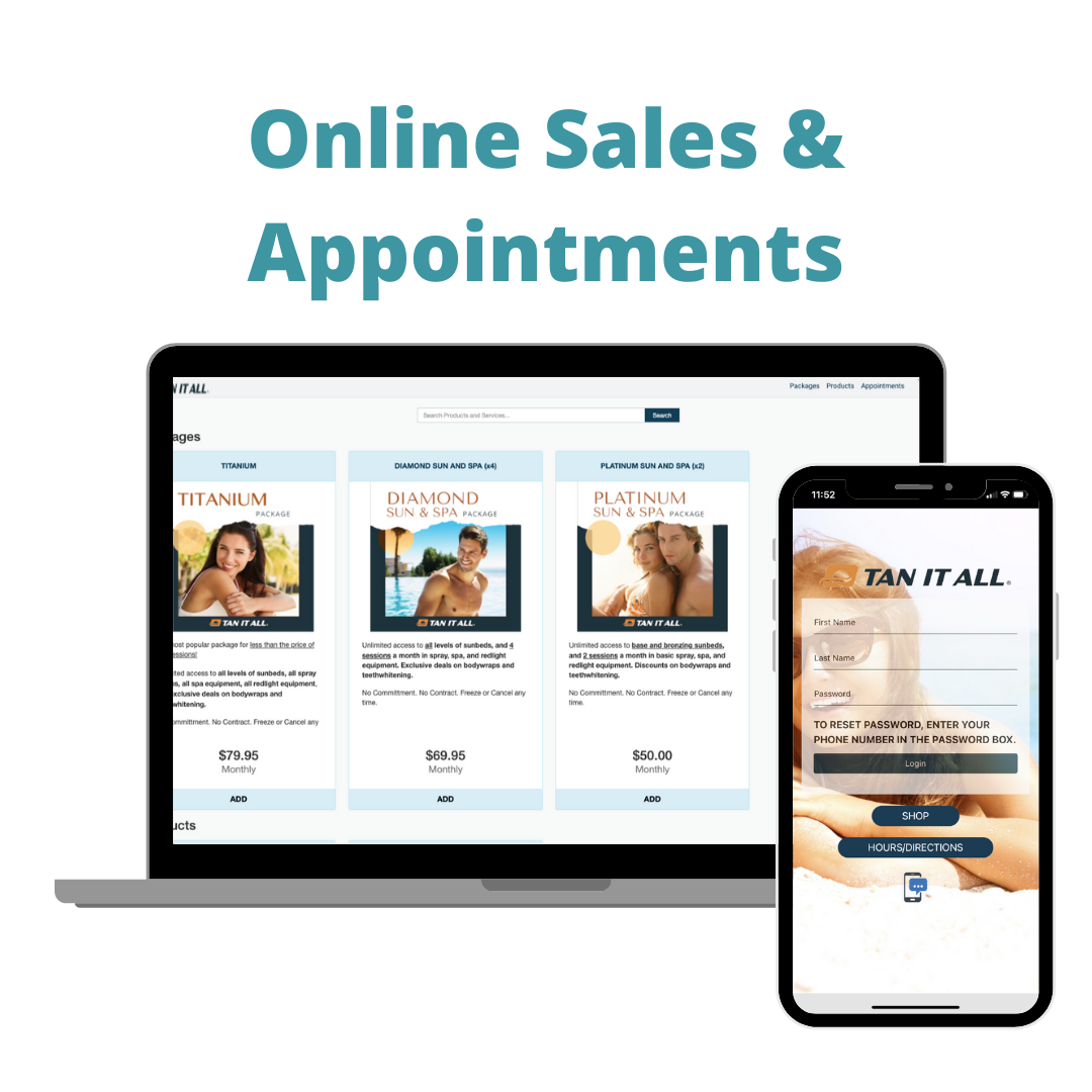 Tanning Salon Online Sales Appointments