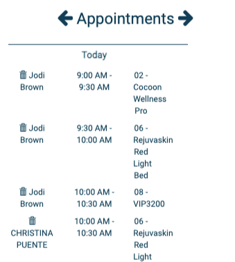 Tanning Salon Appointments